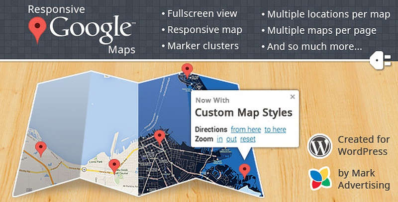 Wordpress плагины: 15 лучших Google Map Плагинов для WordPress
